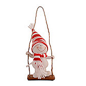Character Snowman on Swing Christmas Tree Decoration - Standing Design