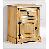 ValuFurniture Bedside Cabinet - Waxed Pine