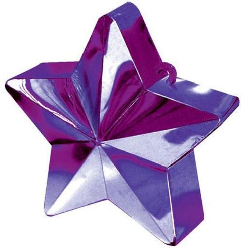 Balloon Weights Purple Star 168g (each)