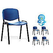 Office Basics Stacking Chair (Set of 4) - Green