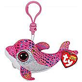 """Ty Beanie Boo Boos 3"""" Key Clip - Sparkles the Dolphin"""