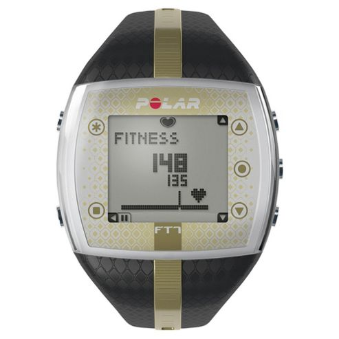 Polar FT7 Sports Watch/Heart Rate Monitor, Black/Gold