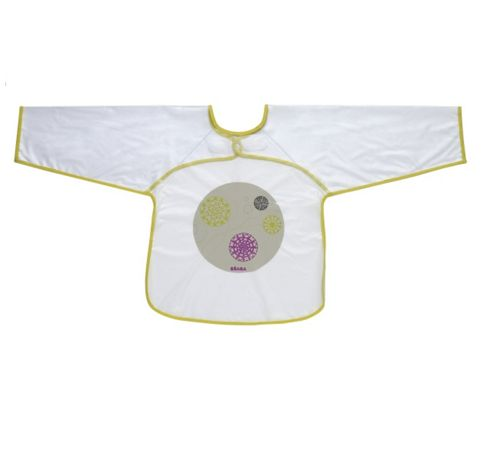 Beaba Sleeved Bib Green/Purple