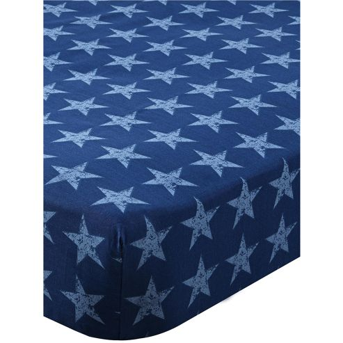 Catherine Lansfield Home Kids Stars And Stripes Single Fitted Sheet Multi