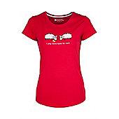 Eyes For Ewe Womens Tee Womens Ladies Short-Sleeved Printed Tee Shirt T-Shirt - Red