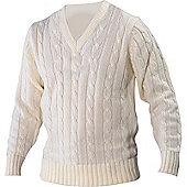Gray Nicolls Cricket Sweater - White