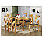 Elements Athens 7 Piece Oak Dining Collection