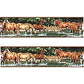 Horses Wallpaper Border