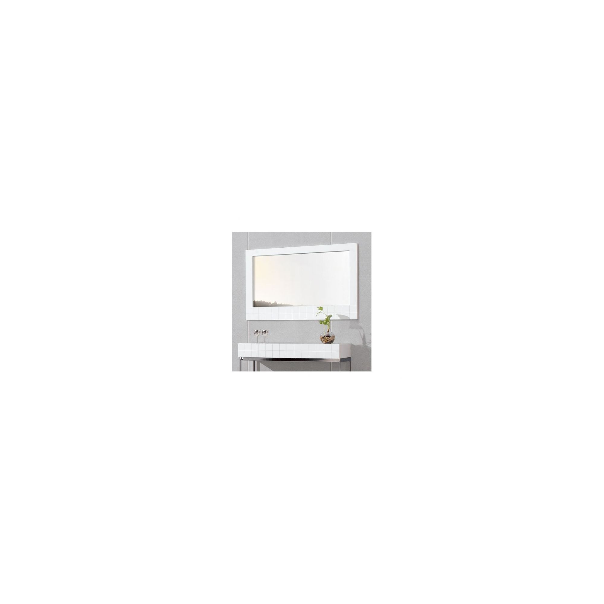 Gillmore Space Barcelona Wall Hanging Mirror - 5.5cm H x 105cm W x 73cm D - White Lacquer (Matt) at Tesco Direct