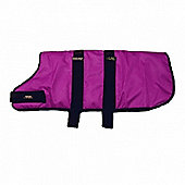 Outhwaite Waterproof Dog Coats Padded Lining - Raspberry 50cm/20