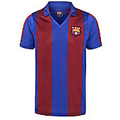 Barcelona 82-89 Home Shirt - Claret & Blue