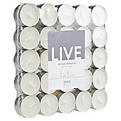 Tesco Tealights 50 Pack, White