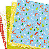 Christmas Folding Papers for Children (50 Sheets)