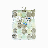 First Steps Supersoft Fleece Baby Blanket Beige Circles 75x100cm