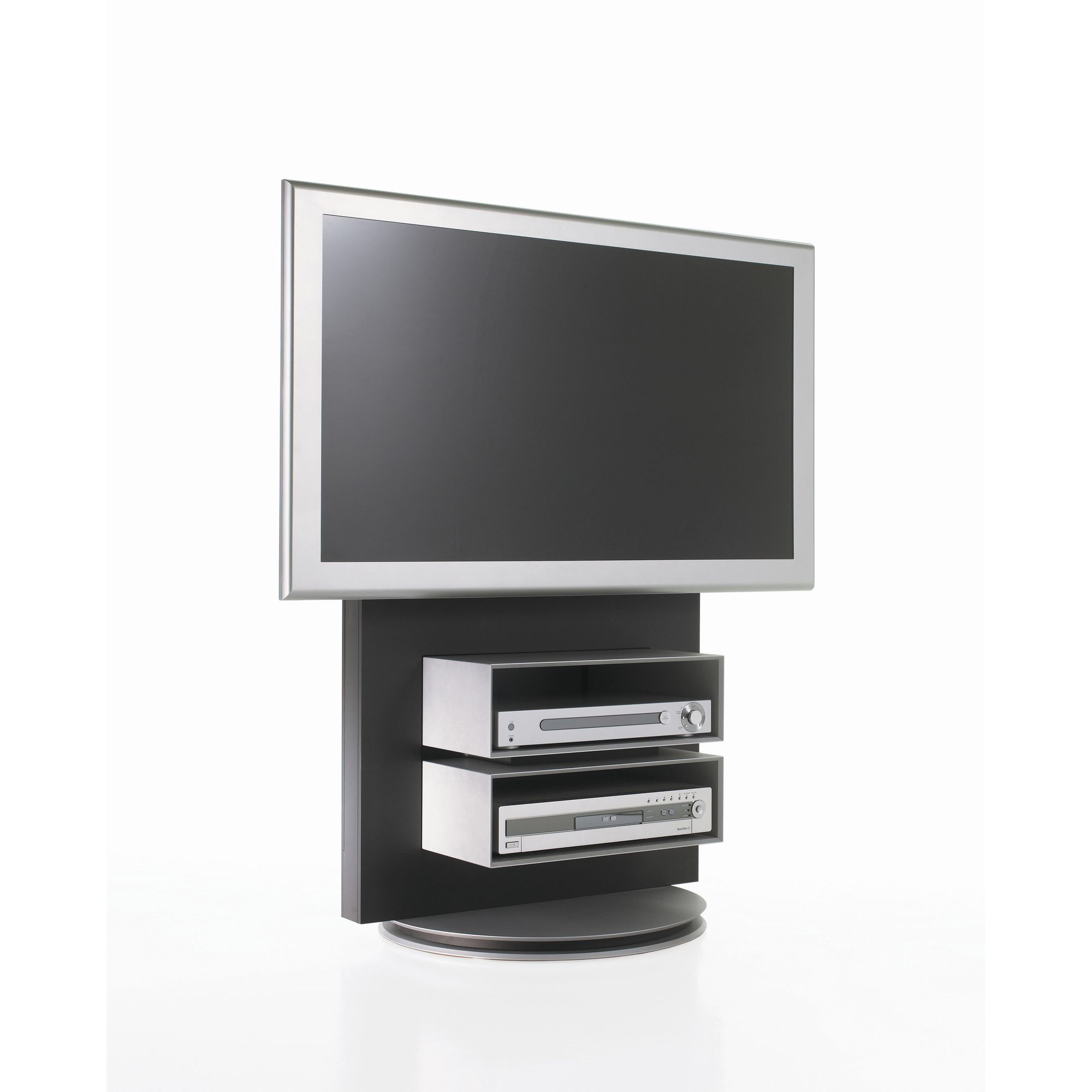 Luke Furniture TV Stand with Storage - High Gloss Black at Tesco Direct