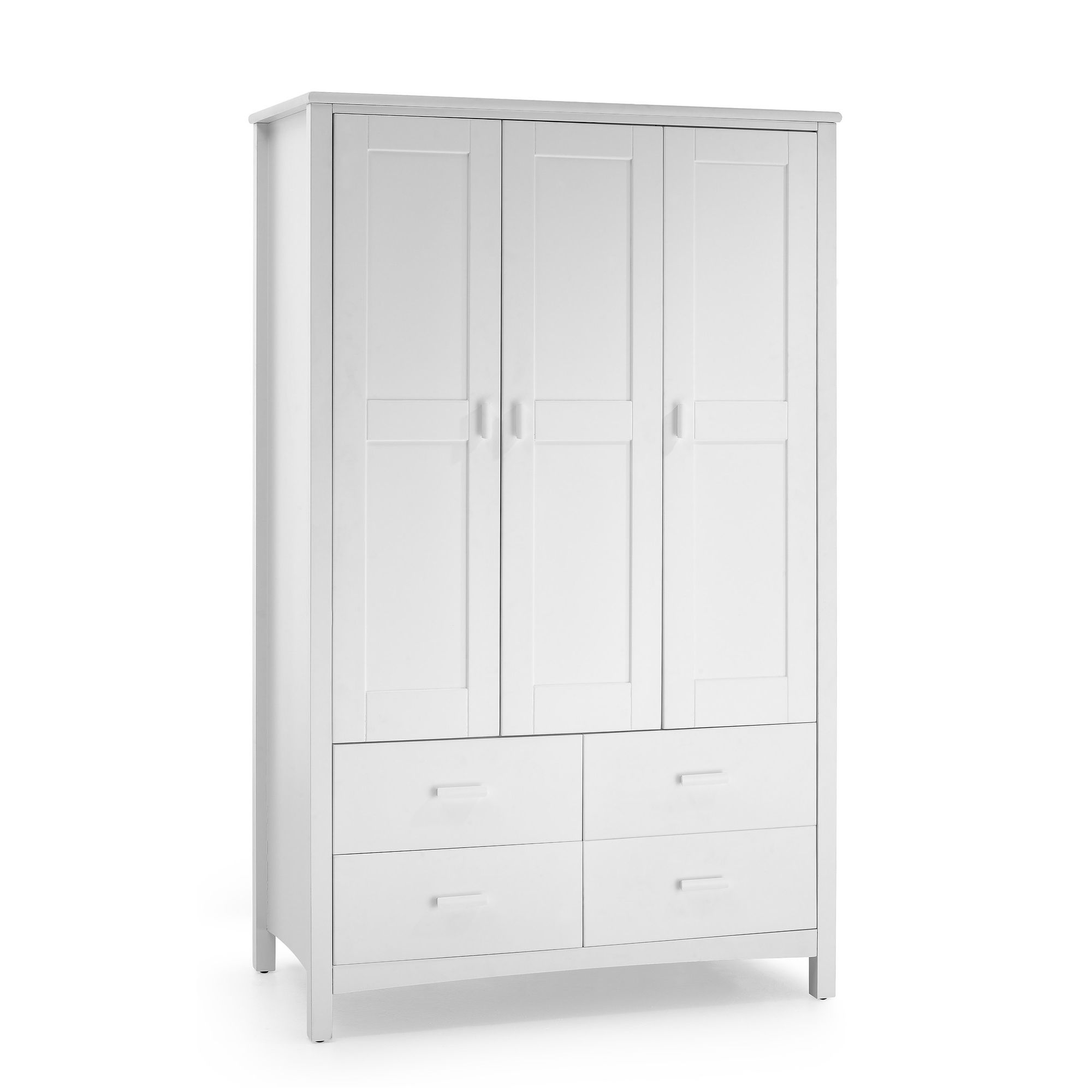 Serene Furnishings Eleanor 3 Door Wardrobe - Opal White at Tesco Direct