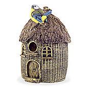Wall or Tree Mountable Detailed Resin Tiki Hut Garden Bird House
