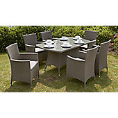 Jumeirah 7pc Rectangular Carver Dining Set