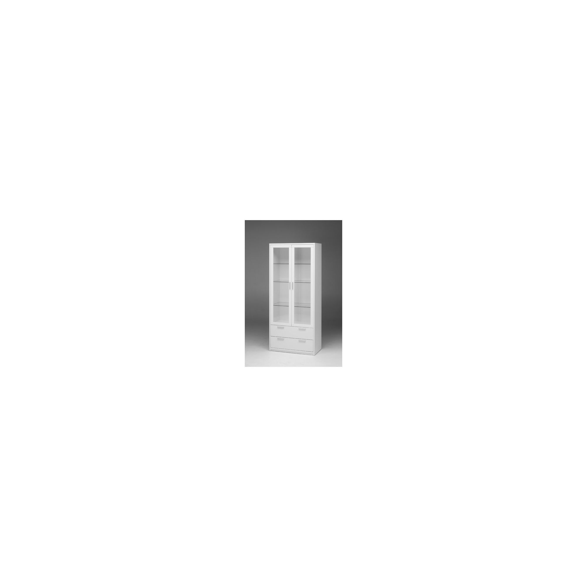 Tvilum Viiwa Two Glass Door China Cabinet - White at Tesco Direct