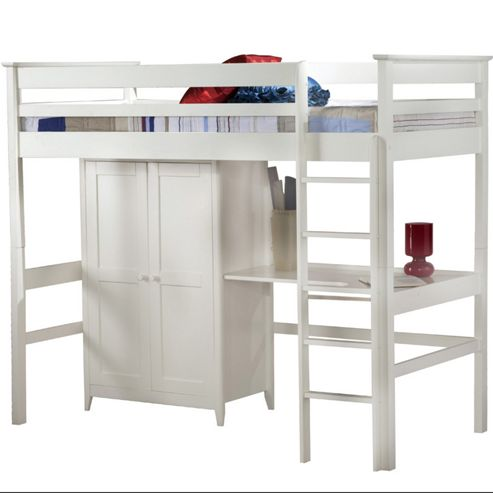 Cotswold High Sleeper Bed - White