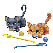 Pet Parade Twin Kitten Pack - Siamese and Chartreux
