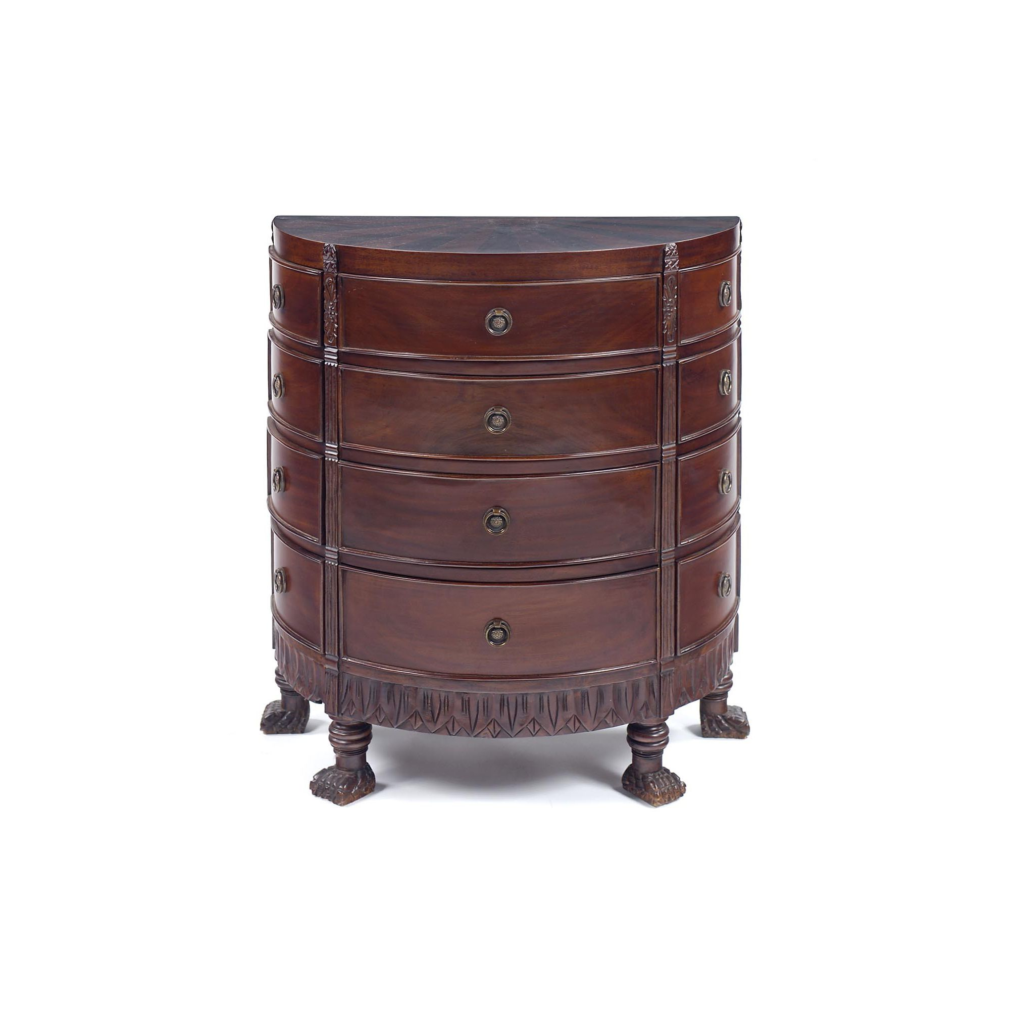 Anderson Bradshaw Georgian Sunburst Chest in Antique Brass in Mahogany at Tesco Direct