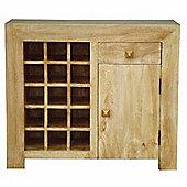 Homescapes Dakota Sideboard with Wine Rack Oak Shade