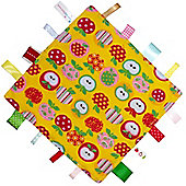 Dotty Fish Baby Tag Blanket - Apples