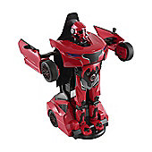 Homcom Remote Control Car Transformer Robot Deformation w/ Light & Sound (Red)