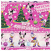 Disney Minnie & Daisy Christmas Wrapping Paper, 6m