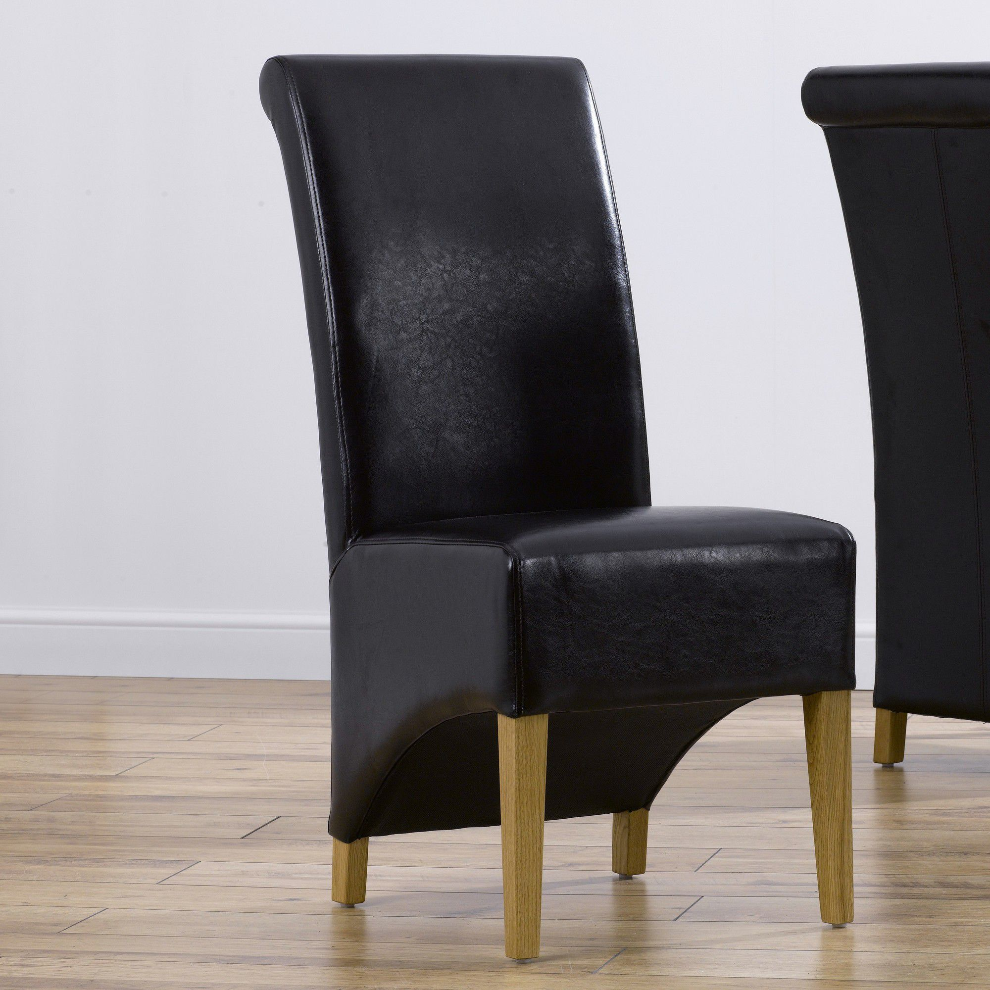 Mark Harris Furniture Barcelona Dining Chair (Set of 2) - Bycast Black