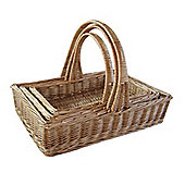 Wicker Valley Willow Large Rectangular Trug (Set of 3)