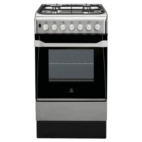 Indesit IS50D1(XX)S Stainless Steel Dual Fuel Cooker, Single Oven