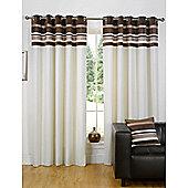 Dreams n Drapes Kendal Chocolate 46x90 Eyelet Lined Eyelet Curtains