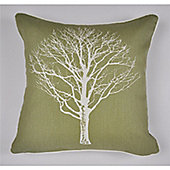 Fusion Woodland Trees Cushion Cover 43x43cm - Green