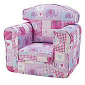 Single Sofa - Patchwork Elephants