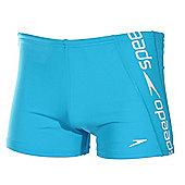 Speedo Raise Mens Endurance+ Swimming Aquashort Trunk - Blue
