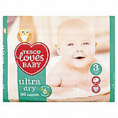 Tesco Loves Baby Ultra Dry Size 3 Midi Carry 36 Pack