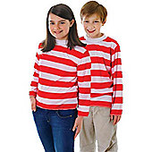 Red/White Striped Top - Child Costume 9-11 years