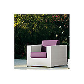 Varaschin Cora Sofa Chair by Varaschin R and D - White - Panama Azzurro