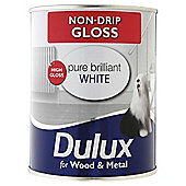Dulux Non-drip Gloss, Pure Brilliant White, 750ML