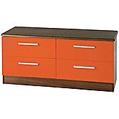 Welcome Furniture Knightsbridge 4 Drawer Chest - White - Ruby