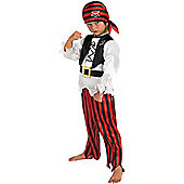 Child Raggy Pirate Costume Medium