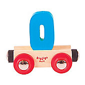 Bigjigs Rail Rail Name Number 0 (Blue)