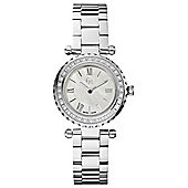 Gc Ladies Silver Tone Stone Set Bracelet Watch X70105L1S