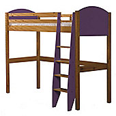 Verona High Sleeper Bed Antique With Lilac Details