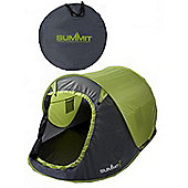 Summit 2 Man Pop Up Tent 3 Season Green