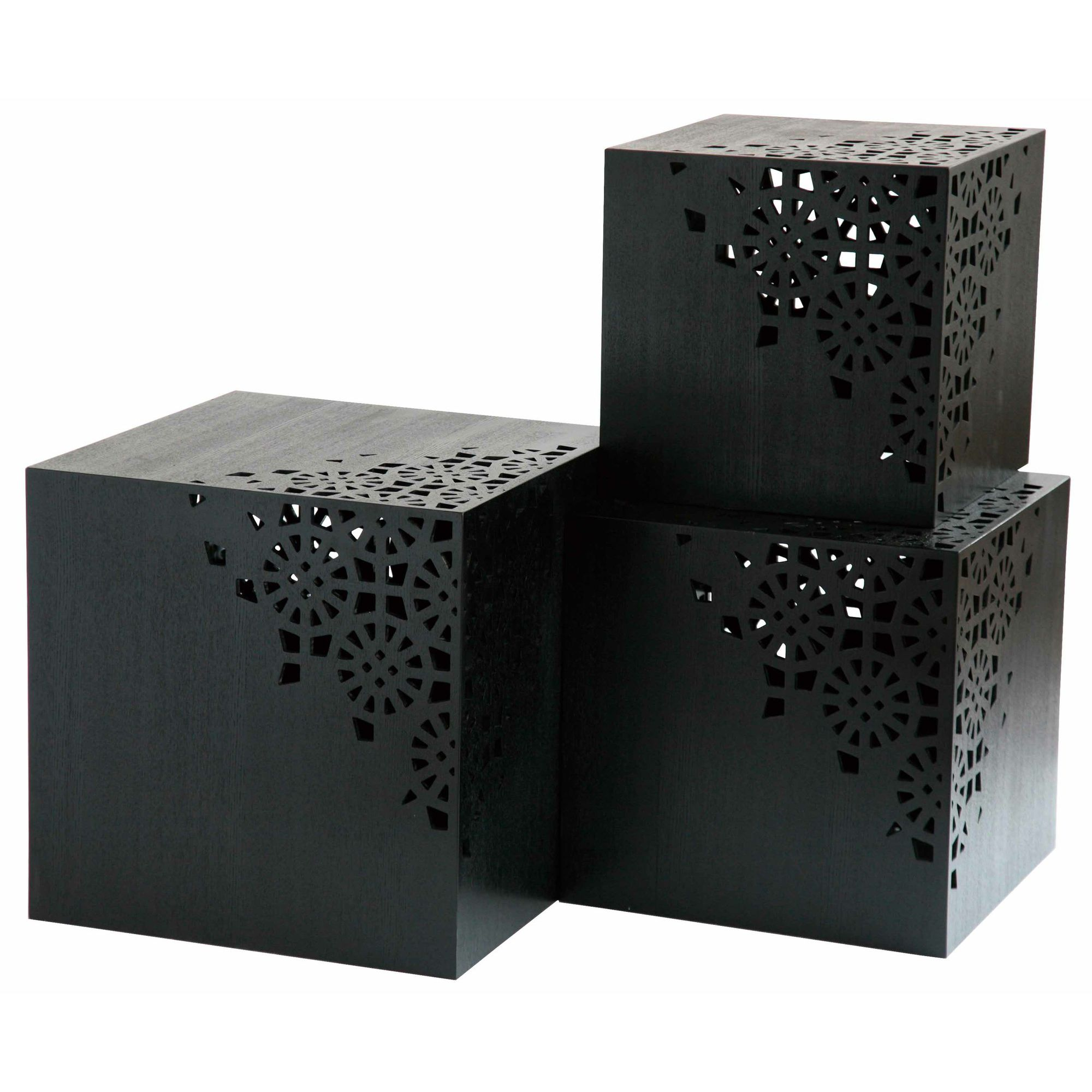 Set of 3 Japonais cube tables at Tesco Direct