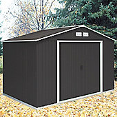 10ft x 10ft Anthracite Metal Shed (3.21m x 3.02m)