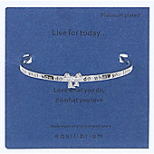 Live For Today Platinum Plated Bangle